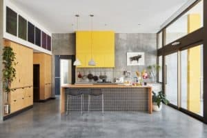 Concrete Flooring Stands Up to the the Kitchen Test