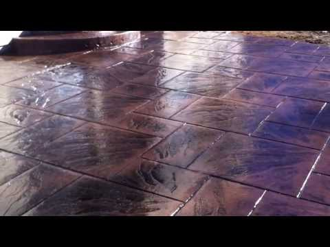 Stamped concrete Colored & stamped concrete installation - Concrete Floor Pros