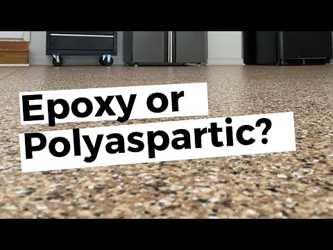 EPOXY or POLYASPARTIC? A Step by step guide for an epoxy & paint chip garage floor.