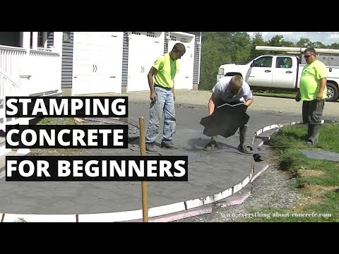 Stamping Concrete For Beginners   Learn How To Stamp Concrete