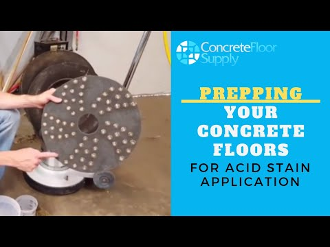 Step 1. Prepping Your Concrete Floors for Acid Stain Application