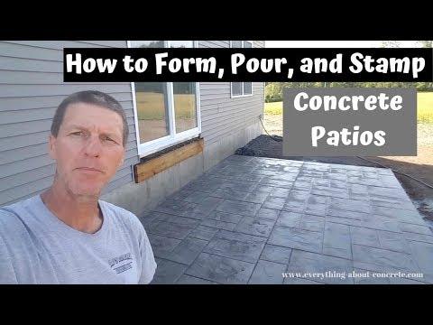 How To Form, Pour, And Stamp A Concrete Patio Slab - Concrete Floor Pros