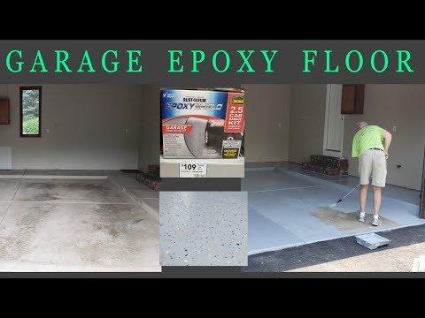 Garage Epoxy Floor - Rust-Oleum EpoxyShield - Concrete Floor Pros
