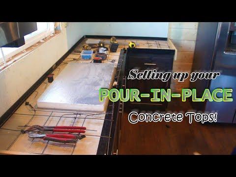 DIY POUR in PLACE concrete countertops - Concrete Floor Pros
