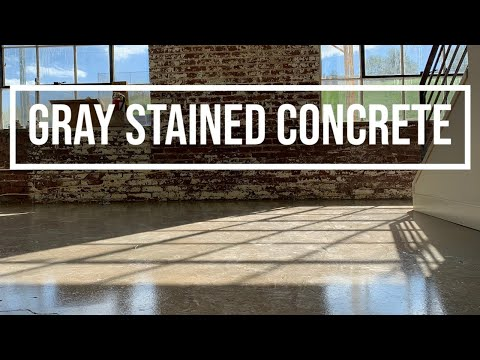 Gray Concrete Stain - We *FINALY* figured how to stain concrete gray.