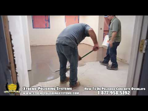 HOW-TO Concrete Polishing Overlay Application