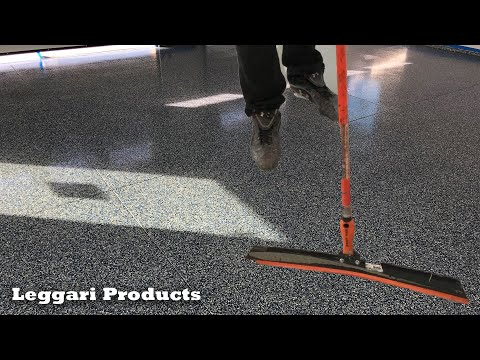 Concrete Garage Coated Using Epoxy & Paint Chips   Step By Step Process