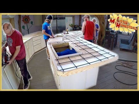 Concrete Countertops & Rebuilding Entrance Stairs | Weekly Peek Ep212