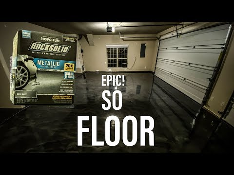 Dream Garage Build Pt 4: Installing Epoxy (Polycuramine) Floors! Rustoleum ROCKSOLID Metallic