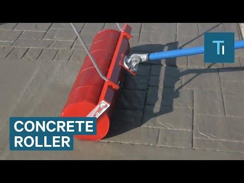 Roller Makes Plain Concrete Look Like Brickwork