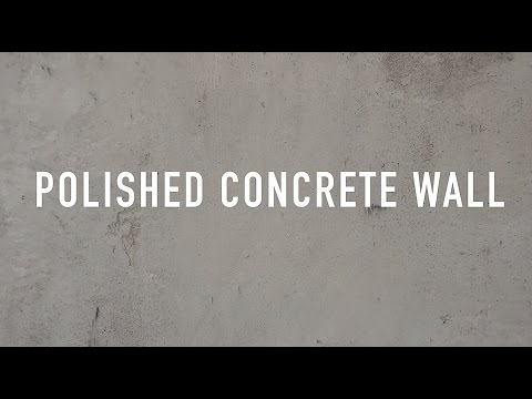 Polished concrete wall