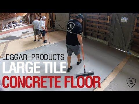 Concrete Overlay Large Tile Floor | Leggari Products