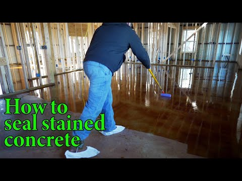 Tips and tricks on sealing stained concrete floors - S3E10
