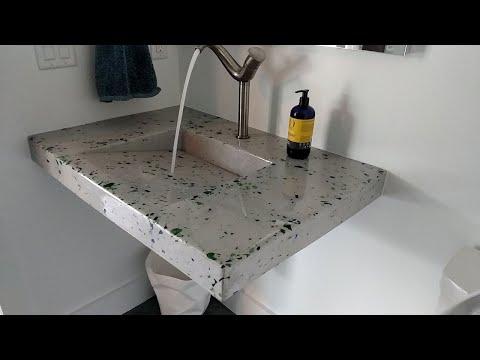 WorkFlix S2-E9  Crazy Concrete Countertops Liquor Glass