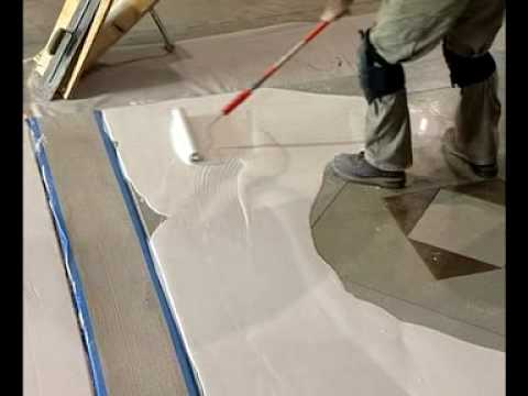 Turbo Roller Concrete Overlay Video—ConcreteNetwork.com - Concrete Floor Pros