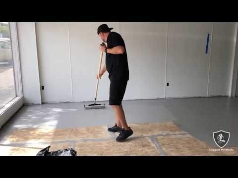 Paint Chip Floor Over Wood Subfloor | Commercial Kitchen Transformation!