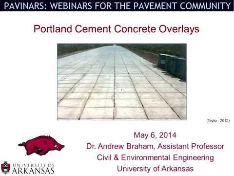 Pavinar: Portland Cement Concrete Overlays