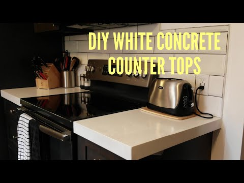 Easiest  ( DIY ) White concrete counter tops 2019.