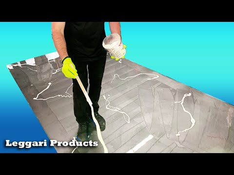 Designer Epoxy Floor Installation That You Can Do Yourself Over Existing Surfaces