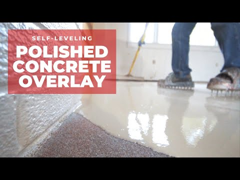 How to Pour a Self Leveling Polished Concrete Overlay