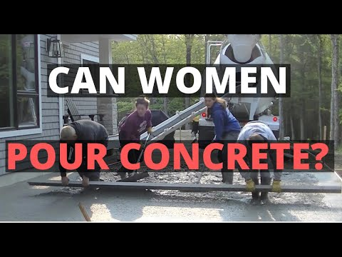 Can Women Pour Concrete? (Pouring A Concrete Patio Slab)