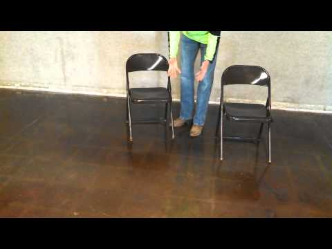Stained concrete floor protection