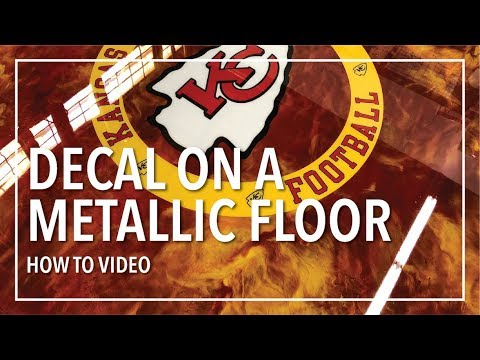 How To: Put A Decal On A Metallic Epoxy Floor