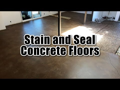 Stain and Seal Concrete Floors