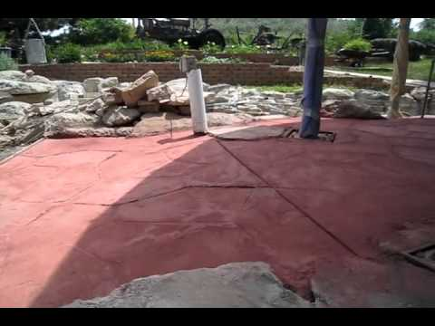 Stamped Concrete Gone Bad-Corn Crib-Part Three of Three - Concrete Floor Pros