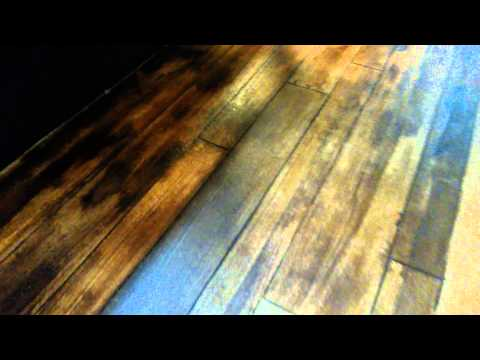 Wood look stained concrete