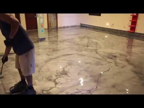 Creative Metallic Epoxy Installation - Metallic Epoxy Floor - Concrete Floor Pros