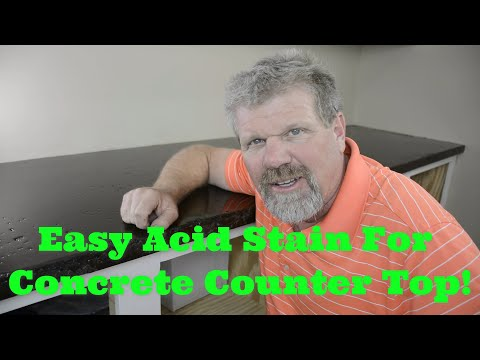 How to stain concrete counter tops Simple DIY!!! - Concrete Floor Pros