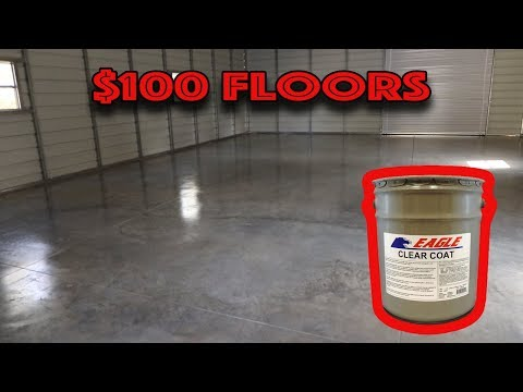 New Garage Floors for $100 dollars Eagle Gloss Sealer