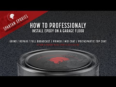 How to Professionally Install Epoxy on a Garage Floor