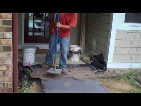 Making a Stamped Concrete Walk