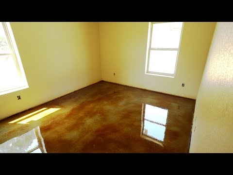 How to seal stained concrete - Texas Barndominiums Episode 32