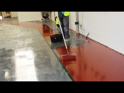 Paint a concrete floor with epoxy resin paint   Rizistal