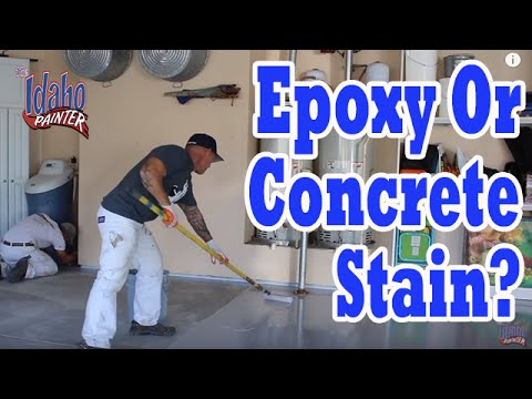 CONCRETE STAIN OR EPOXY for Garage Floors?  Best product for concrete floors.