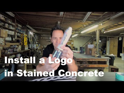 How to Stain a Logo on a Stained Concrete Floor