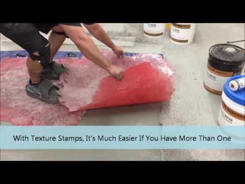 How to do Horizontal Stamped & Carved Concrete Overlay Step 3 of 4