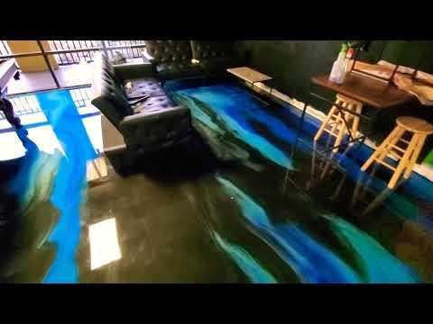 Wild designer metallic epoxy floor - Concrete Floor Pros