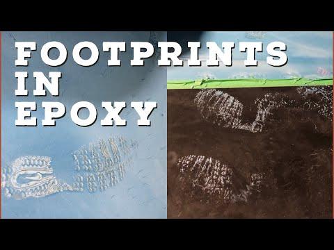 FOOTPRINTS in our brand new Metallic Epoxy Floor. 🤦🏻♂️