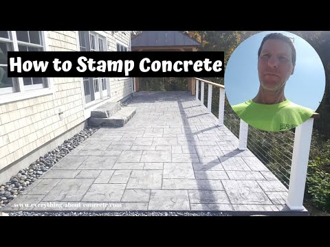 How To Stamp Concrete Patios | Majestic Ashlar Slate Stamped Concrete