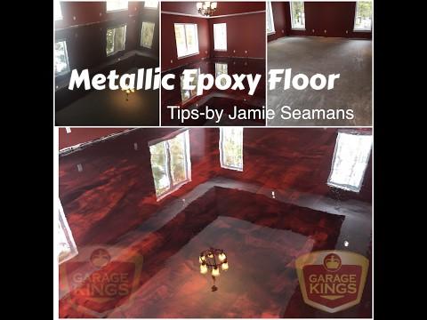 Tips on How to do a  Metallic Epoxy Floor - Concrete Floor Pros