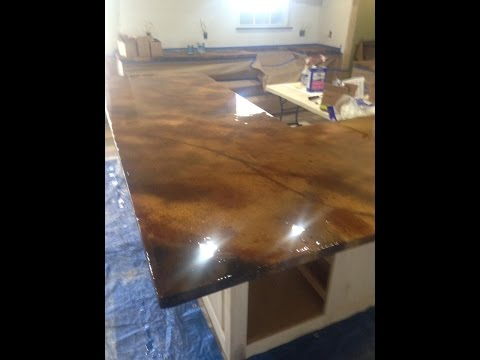 Concrete Countertop From Start To Finish by Ken's Custom Designs - Concrete Floor Pros