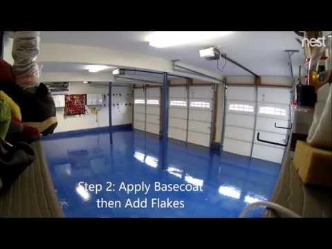Timelapse Garage Epoxy Floor - Concrete Floor Pros