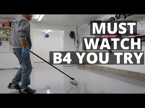 How To Epoxy Coat Your Garage Floor | Must Watch For Diy'rs