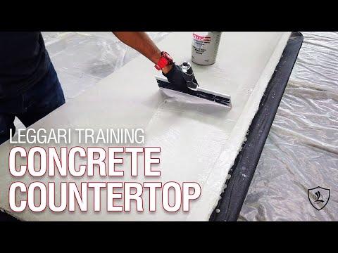 DIY Concrete Overlay Countertop