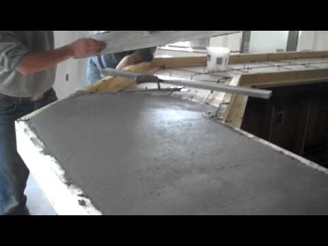 Concrete Countertops Pour La Crosse, WI, Dublin Square Empire Development
