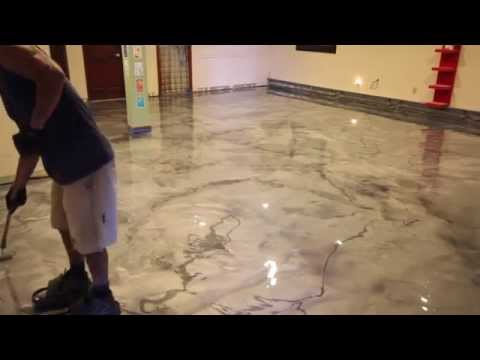 Creative Metallic Epoxy Installation - Metallic Epoxy Floor - Concrete Floor Pros